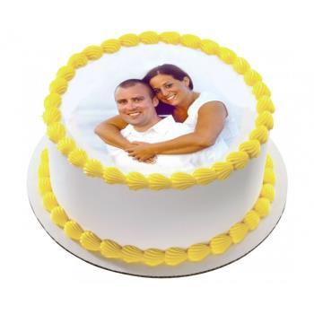 Pineapple Photo Cake