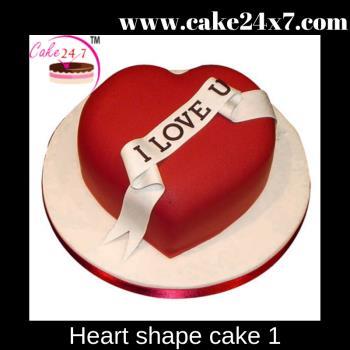 Heart shape cake 1