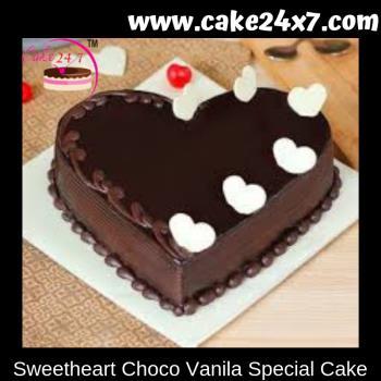 Sweetheart Choco Vanila Special Cake