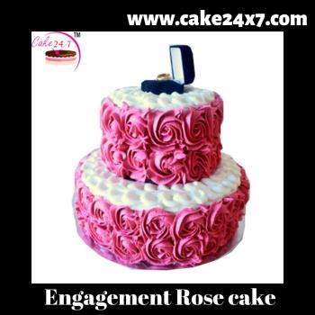 Engagement Rose cake