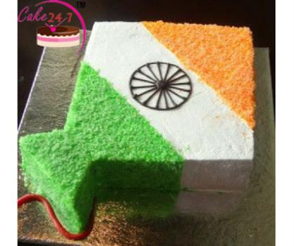 Independence Day Special Tiranga Cake