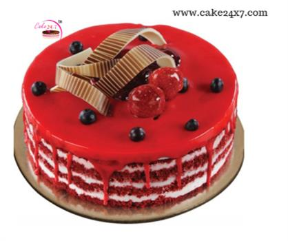 Red Velvet-Cherry Cake