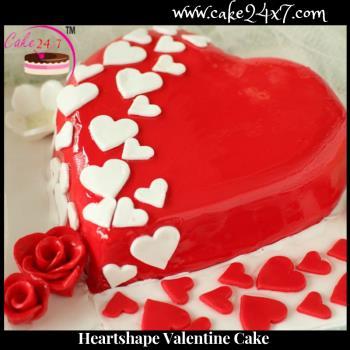 Heart shape Valentine Cake