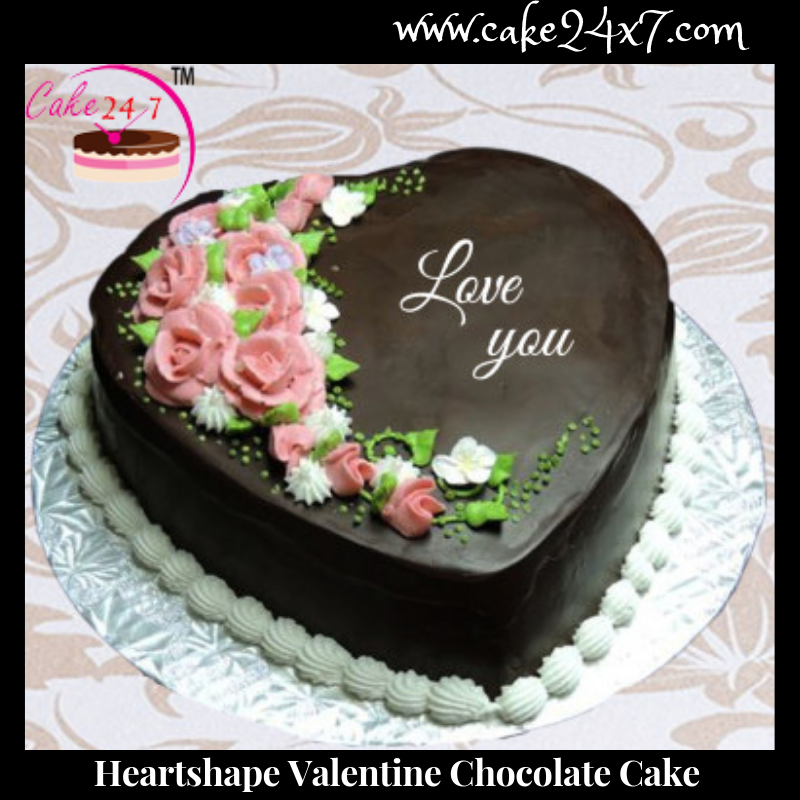 Heart Shape Valentine Chocolate Cake