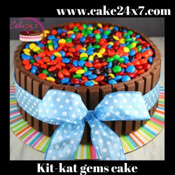 Kit Kat Gems Cake