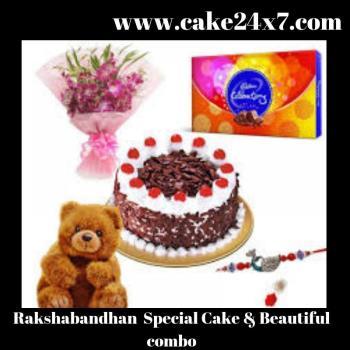 Raksha Bandhan Speical cake & beautiful Combo
