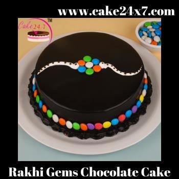 Rakhi Gems Chocolate Cake