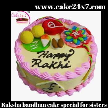 Raksha bandhan cake special for sisters
