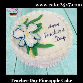 Teacher Day Pineapple Cake