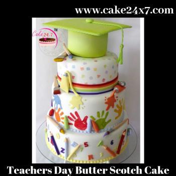 Teachers Day Butter Scotch Cake