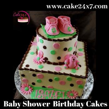 Astonishing Baby Shower Birthday Cakes 24X7 Home Delivery Of Cake In Birthday Cards Printable Giouspongecafe Filternl