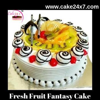 Fresh Fruit Fantasy Cake