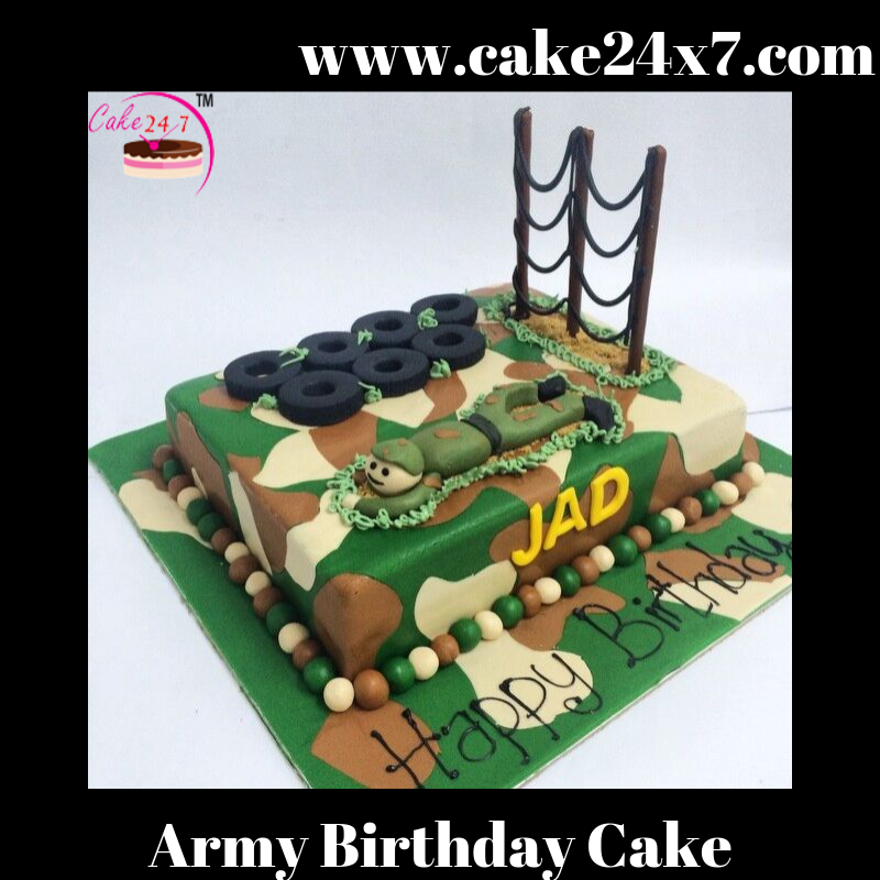 Peachy Army Birthday Cake 24X7 Home Delivery Of Cake In Khyala Village Funny Birthday Cards Online Bapapcheapnameinfo