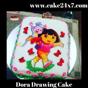 Dora Drawing Cake