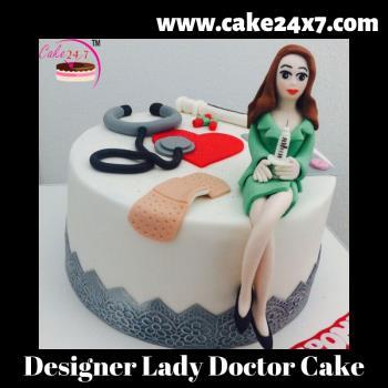 Designer Lady Doctor Cake