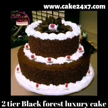 2 Tier Black Forest Luxury Cake