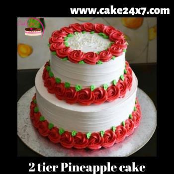 2 Tier Pineapple cake