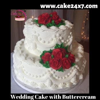 Wedding Cake with Buttercream