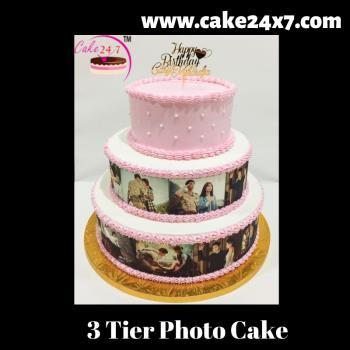 3 Tier Photo Cake
