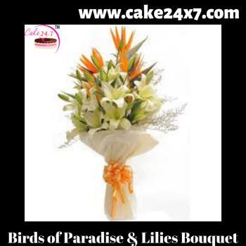 Birds of Paradise & Lilies Bouquet
