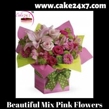 Beautiful Mix Pink Flowers