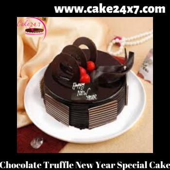 Chocolate Truffle New Year Special Cake