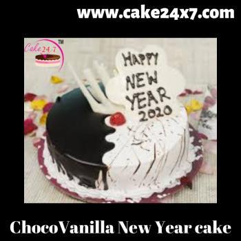 ChocoVanilla New Year cake