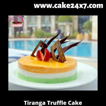 Tiranga Truffle Cake