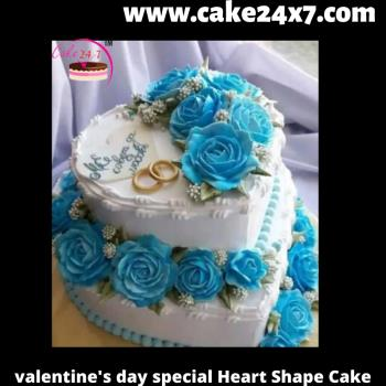 Valentine's day special heart shape cake