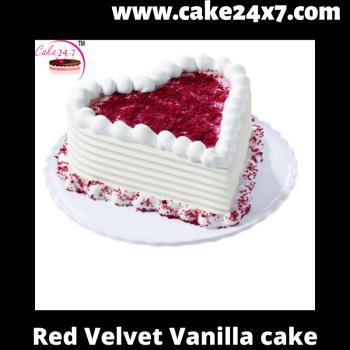 Red Velvet Vanilla Cake