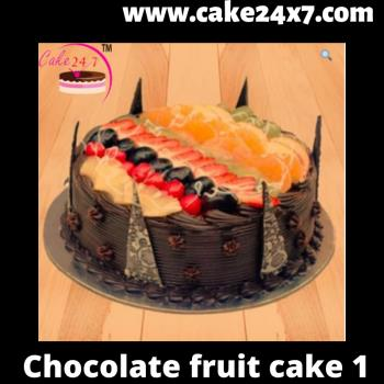 Chocolate fruit cake 1