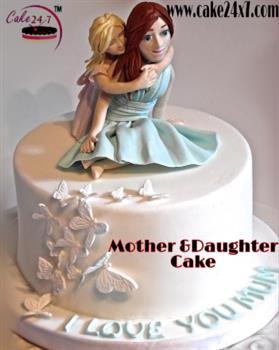 Mother & Daughter  Fondant Cake