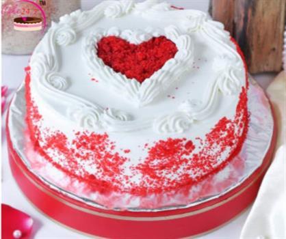 Red Velvet Heart Shape Special Cake