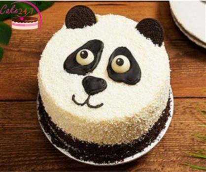 Panda Face Cream Cake