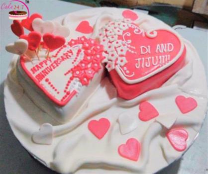 Anniversary Heart Cake