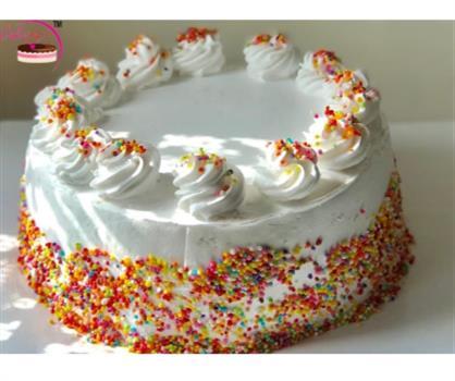 Colourfull Sprinkle Vanilla Cake