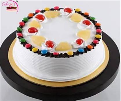Pineapple Gems Chocolate Cake