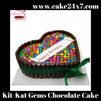 Kit-Kat Gems Chocolate Cake